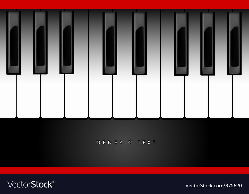 Piano keyboard background vector | Price: 1 Credit (USD $1)