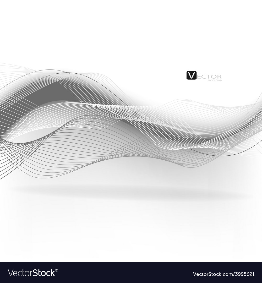Abstract waves - data stream concept vector | Price: 1 Credit (USD $1)