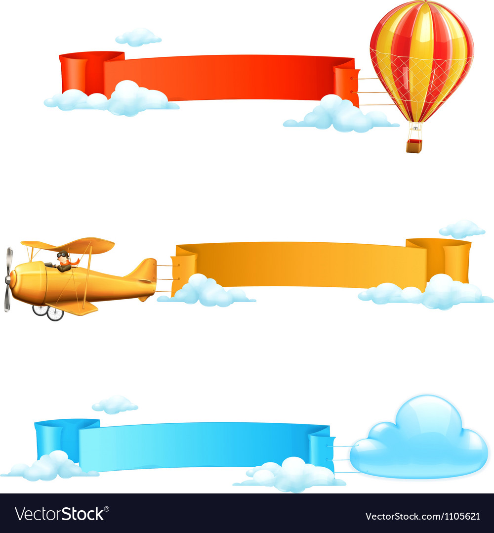 Air banners vector | Price: 1 Credit (USD $1)