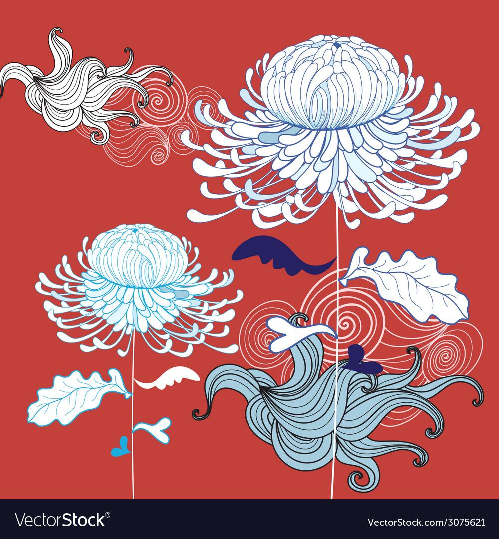 Beautiful chrysanthemum vector | Price: 1 Credit (USD $1)