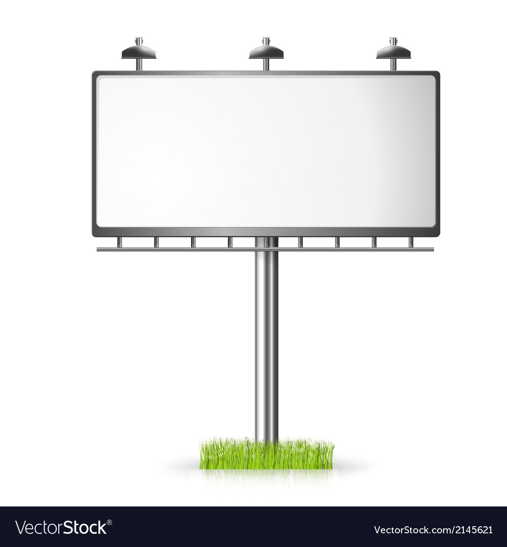 Billboard background with grass vector | Price: 1 Credit (USD $1)