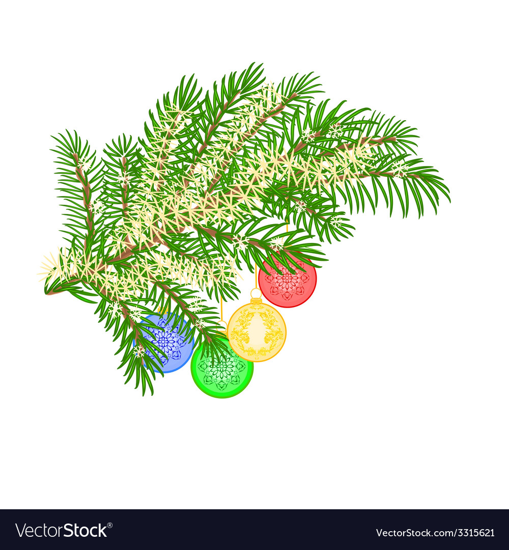 Christmas decoration christmas branch vector   Price: 1 Credit (USD $1)