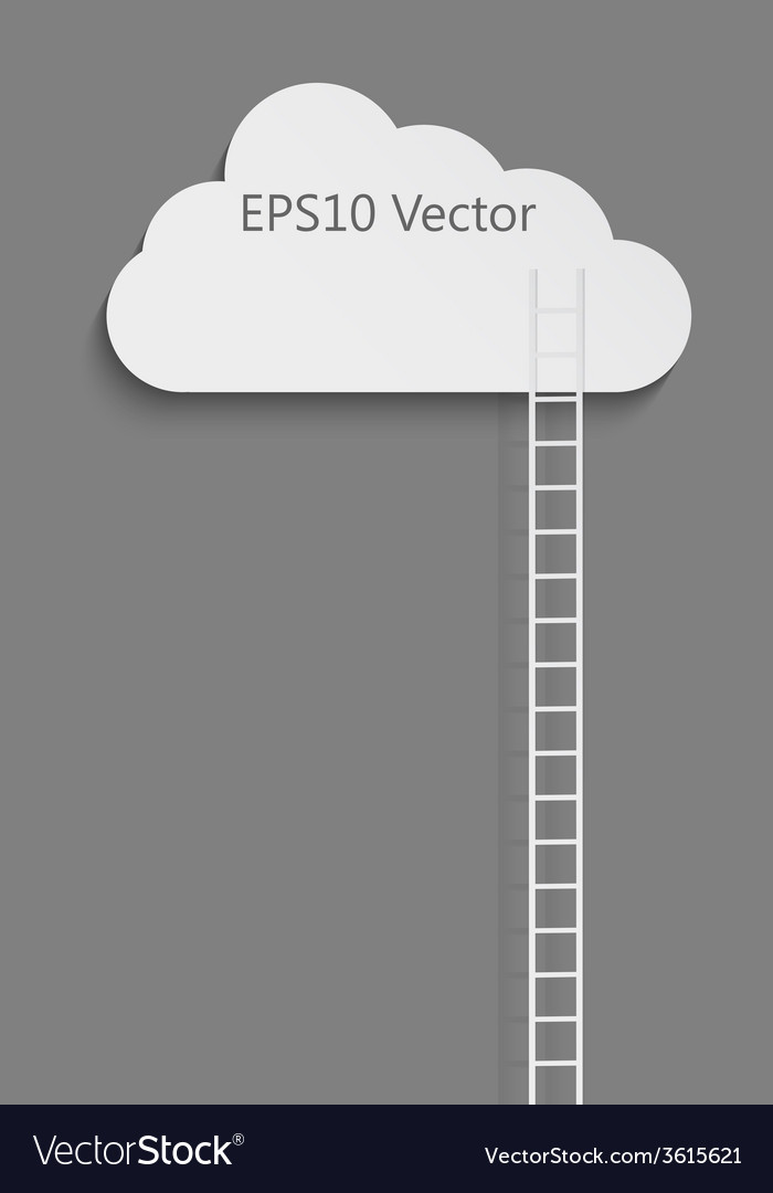 Cloud and ladder vector | Price: 1 Credit (USD $1)