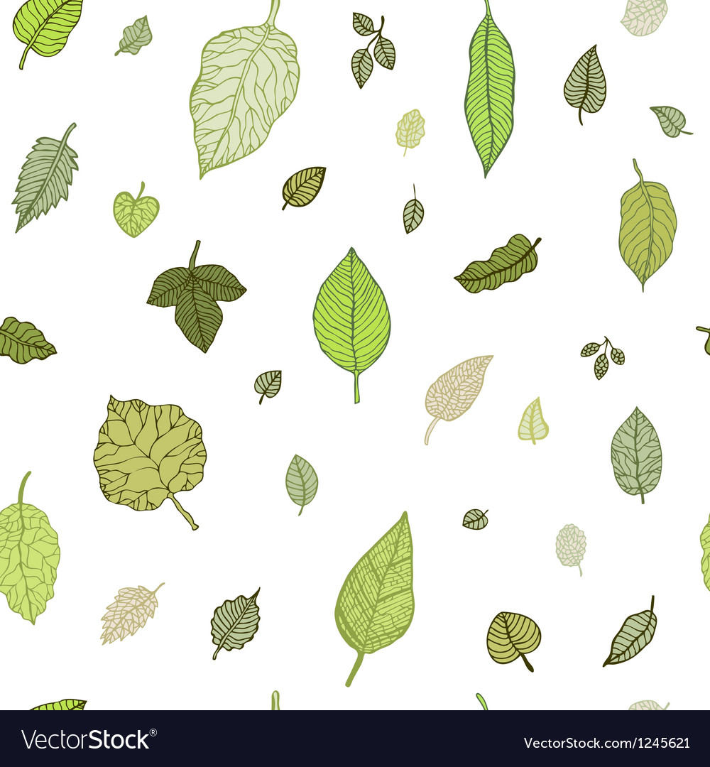 Green leaf seamless pattern vector | Price: 1 Credit (USD $1)
