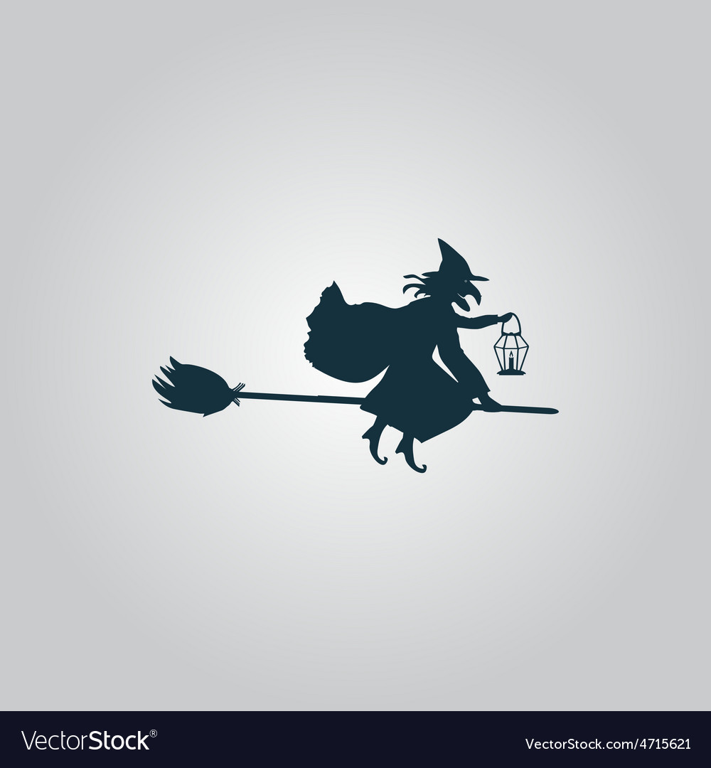 Halloween witch silhouette vector | Price: 1 Credit (USD $1)