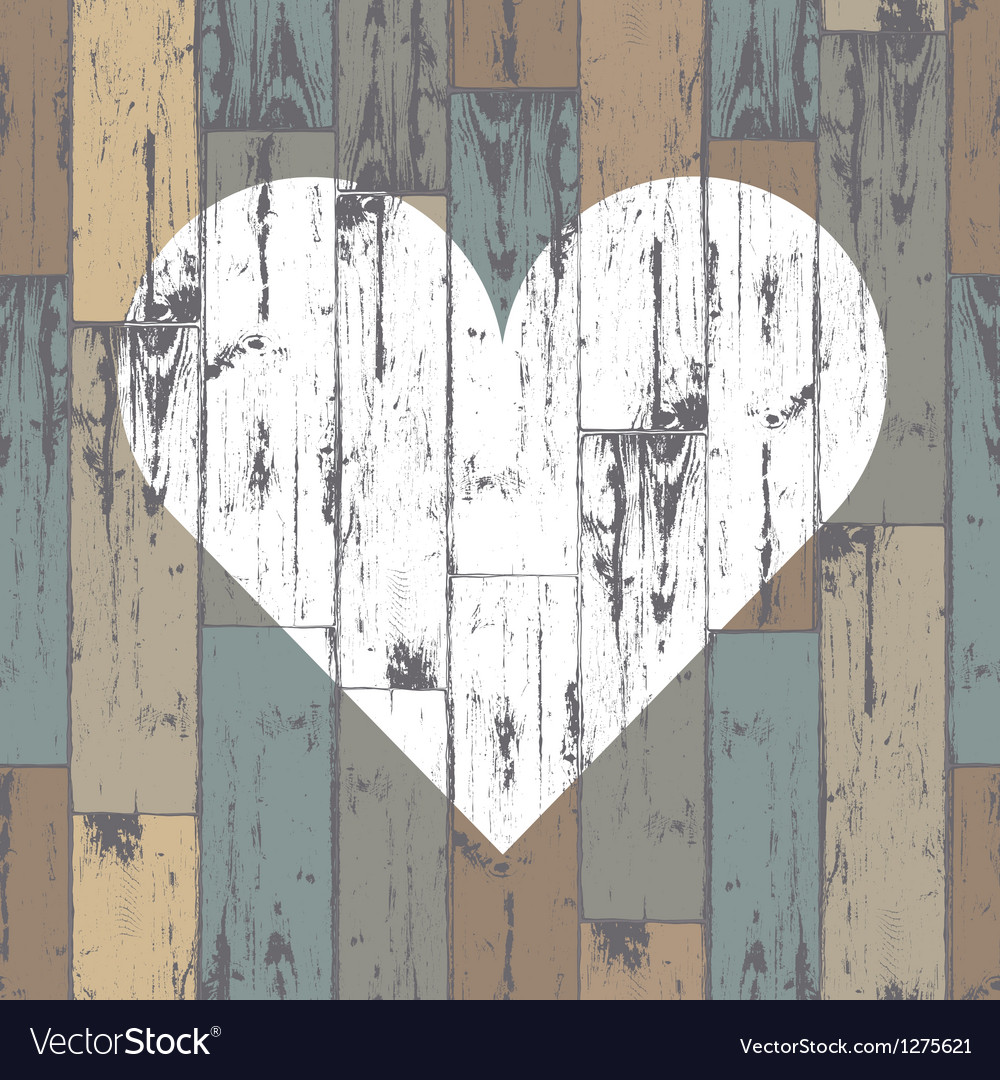 Heart on wooden pattern vector | Price: 1 Credit (USD $1)