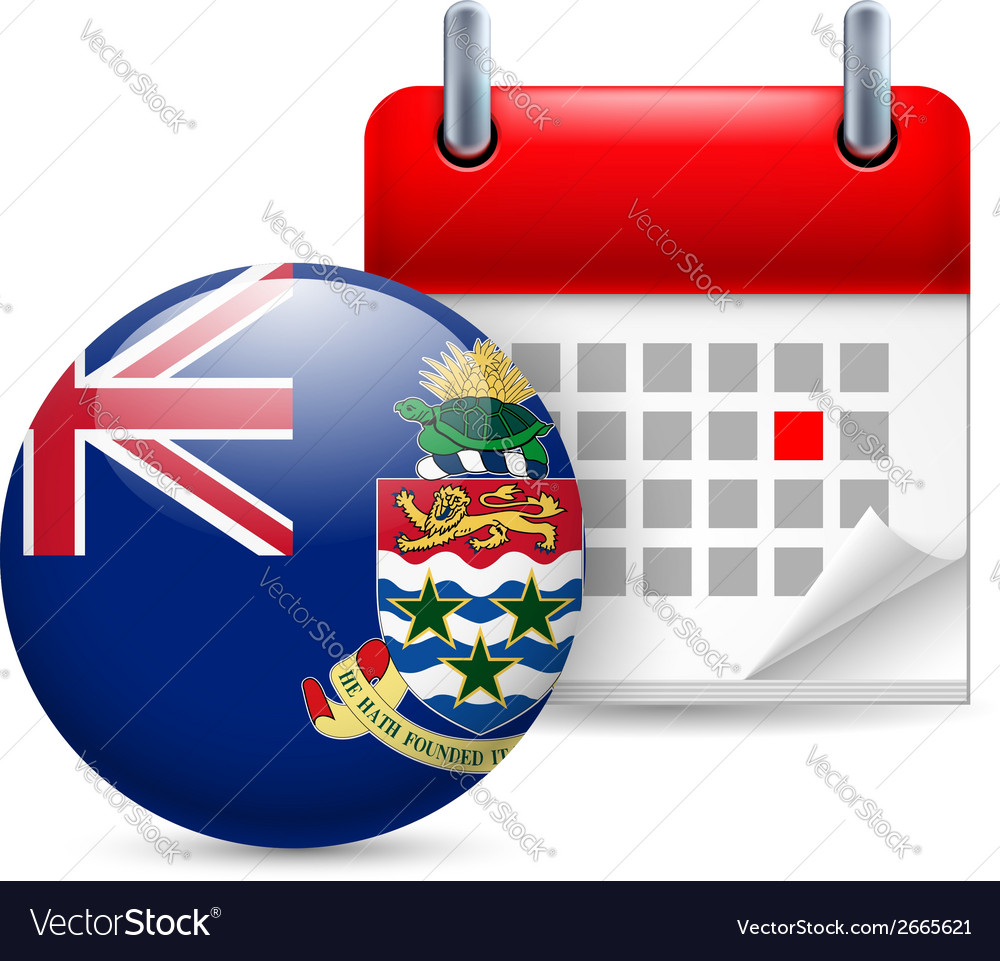 Icon of national day on cayman islands vector | Price: 1 Credit (USD $1)