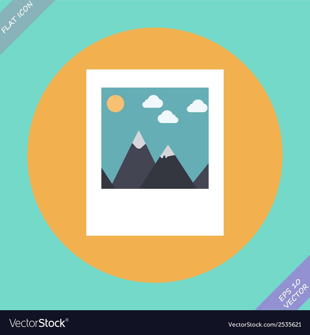 Landscape photo icon - vector | Price: 1 Credit (USD $1)
