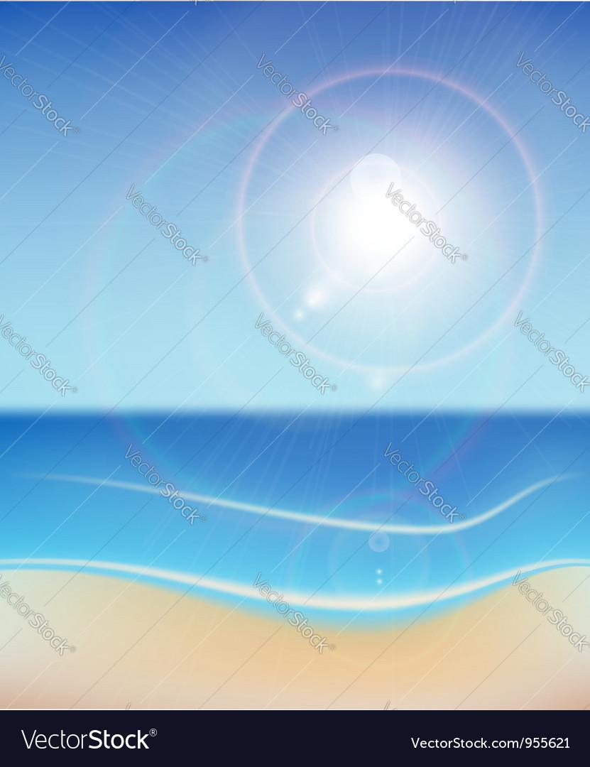 Seascape background vector | Price: 1 Credit (USD $1)