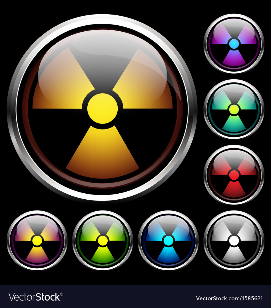 Set icons of radiation vector | Price: 1 Credit (USD $1)
