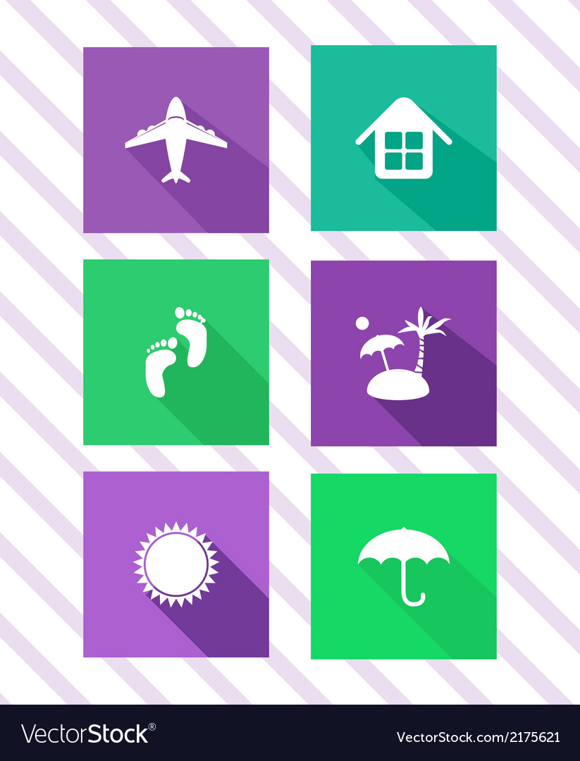Set of flat travel icons vector | Price: 1 Credit (USD $1)