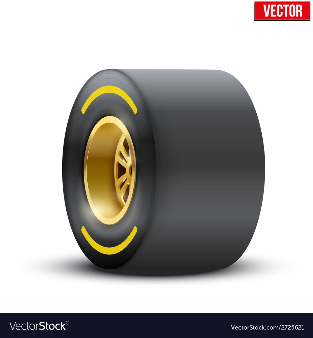 Sports car wide wheel vector | Price: 1 Credit (USD $1)