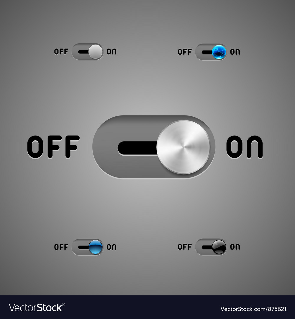 Switch buttons vector | Price: 1 Credit (USD $1)