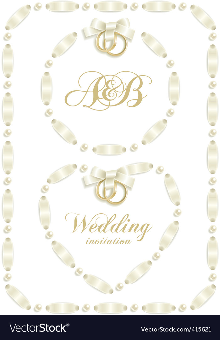Wedding ribbon frame vector | Price: 1 Credit (USD $1)