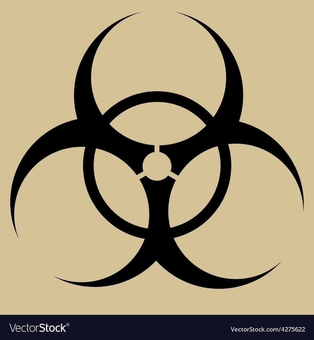 Biohazard symbol sign isolated vector | Price: 1 Credit (USD $1)