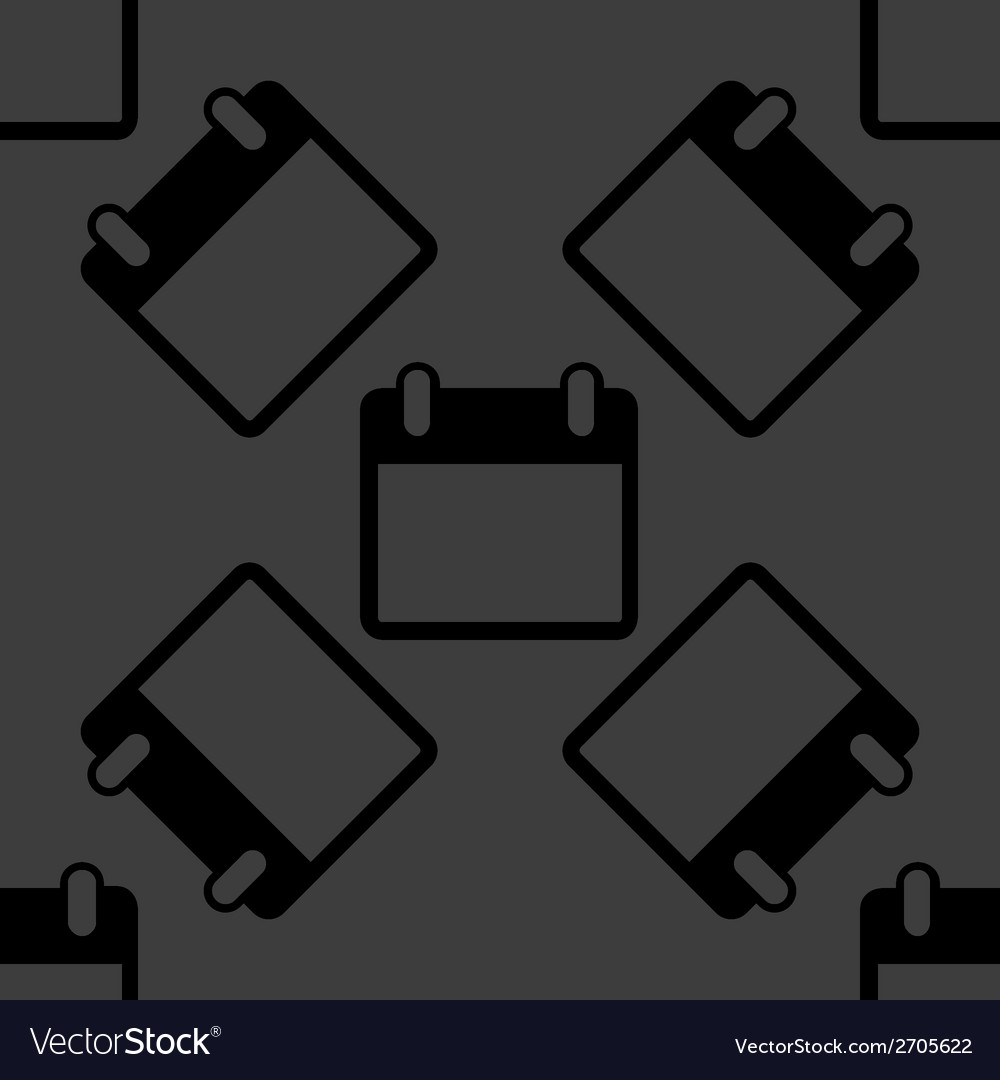 Calendar web icon flat design seamless pattern vector | Price: 1 Credit (USD $1)