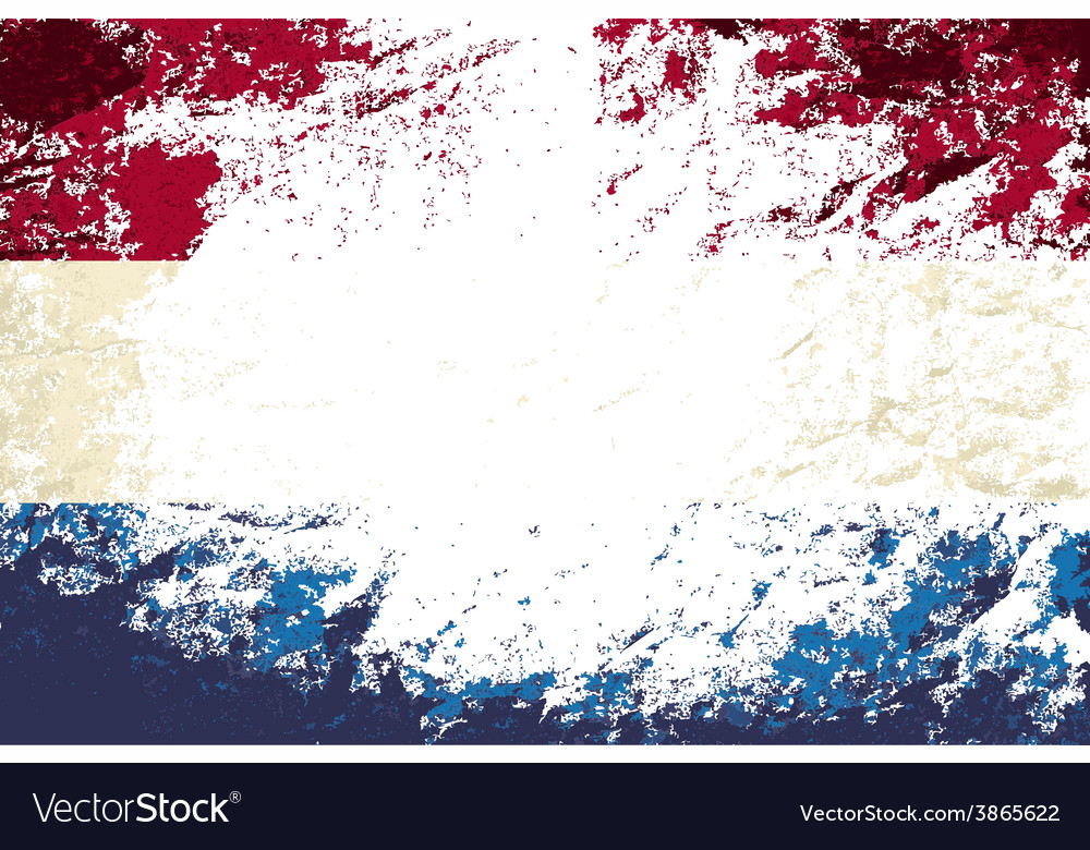 Dutch flag grunge background vector | Price: 1 Credit (USD $1)