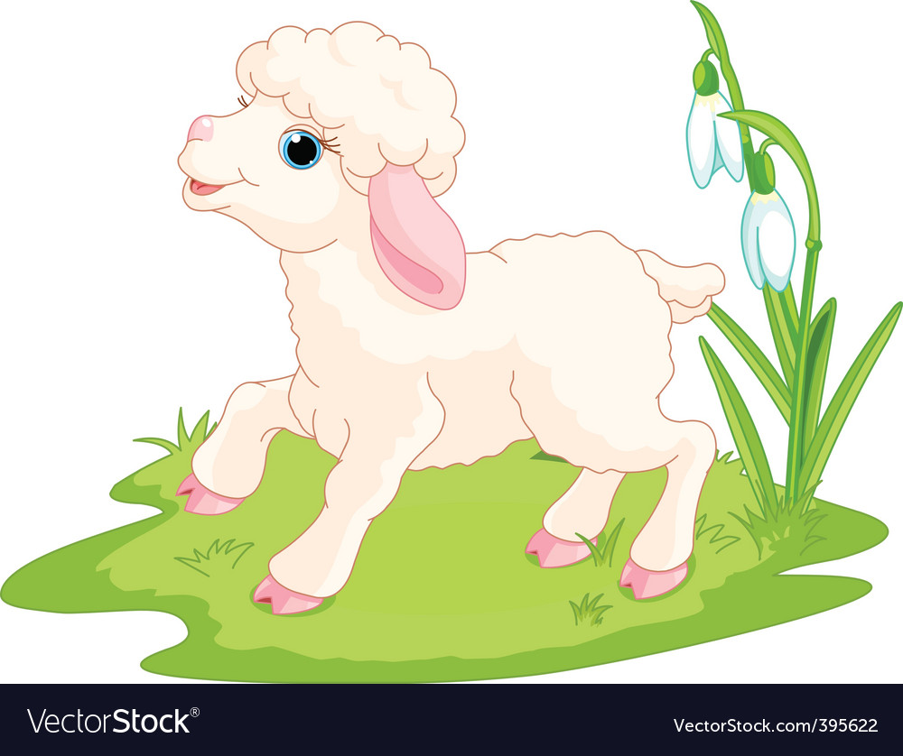Easter lamb vector | Price: 3 Credit (USD $3)