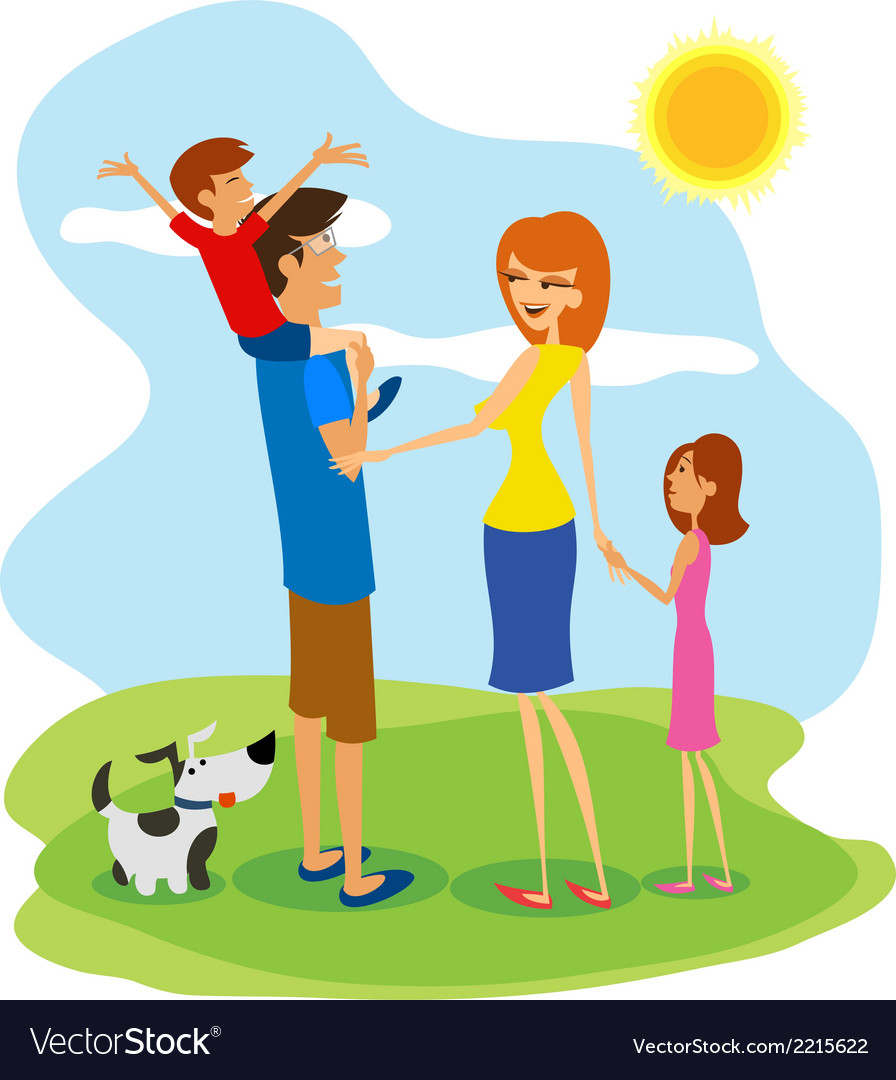 Family day vector | Price: 1 Credit (USD $1)