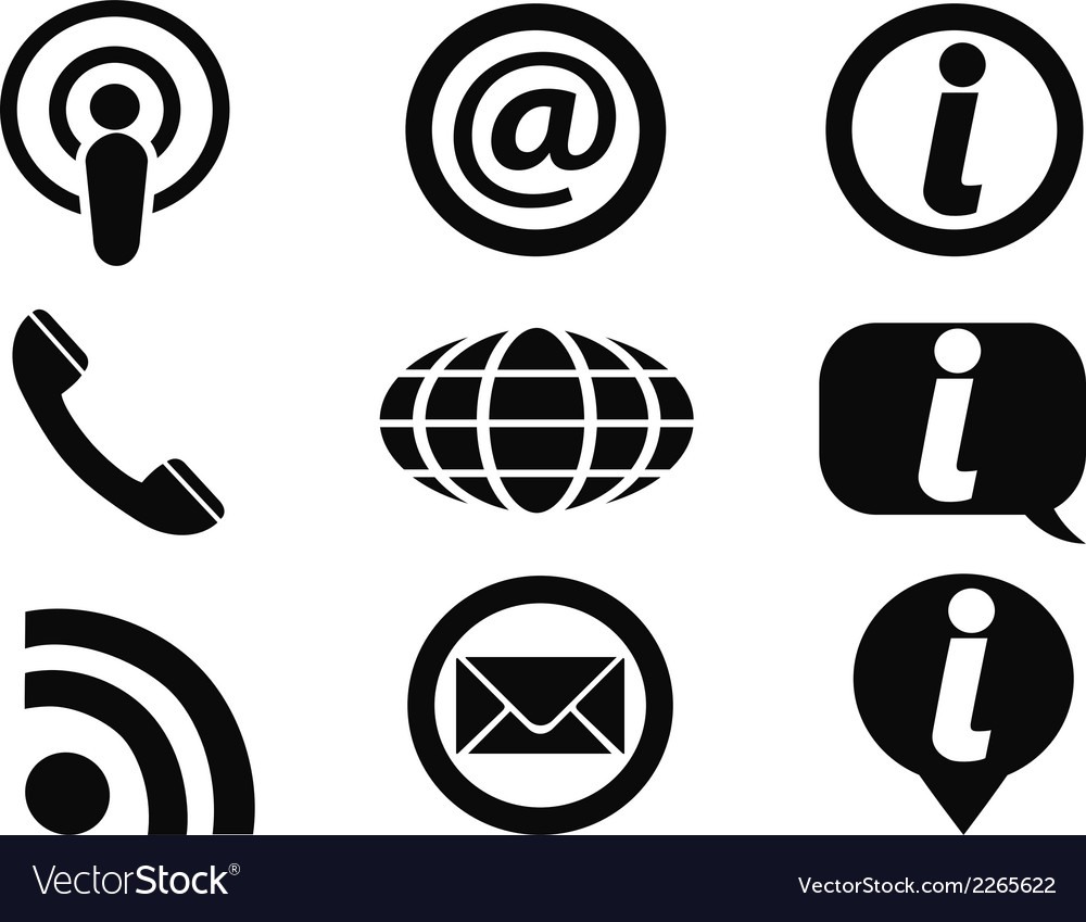Information icons set vector | Price: 1 Credit (USD $1)