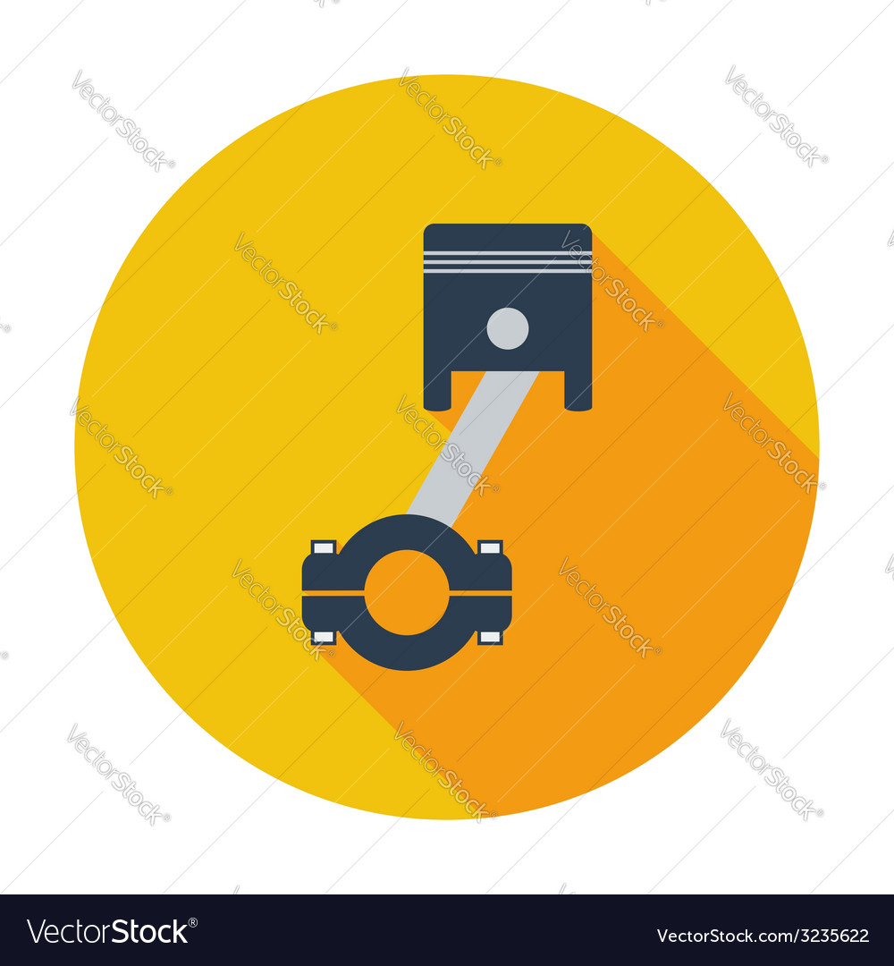 Piston single icon vector | Price: 1 Credit (USD $1)