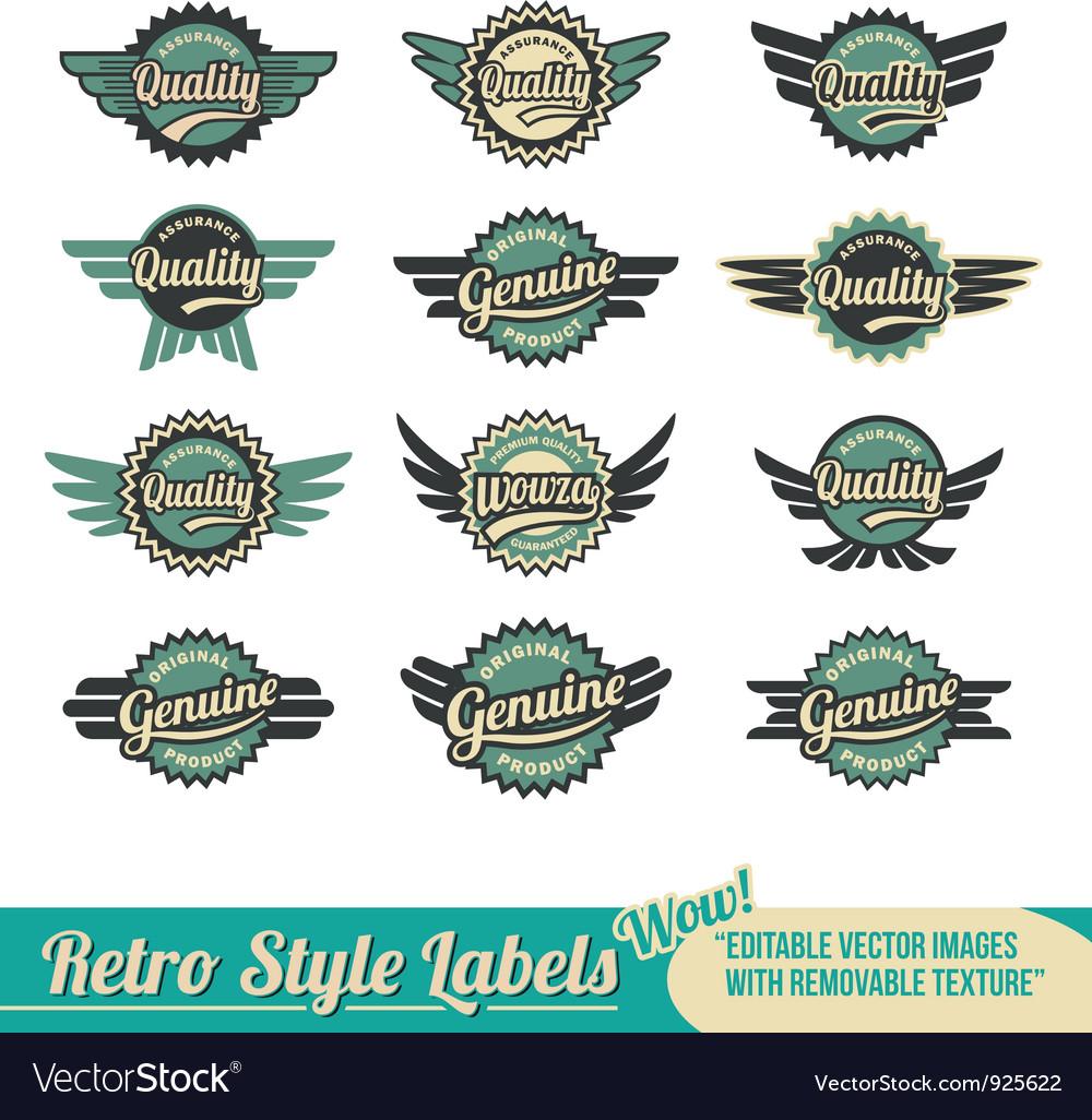 Retro vintage label badge set vector | Price: 1 Credit (USD $1)