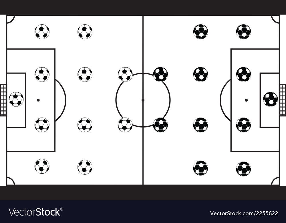 Soccer stadium field black vector | Price: 1 Credit (USD $1)