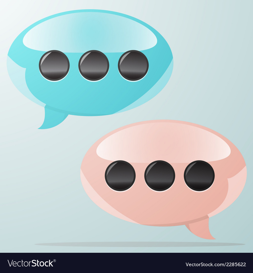 Speach bubbles at light background vector | Price: 1 Credit (USD $1)