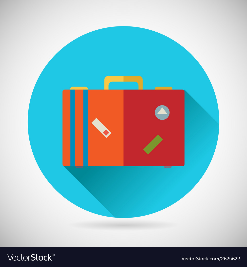 Summer vacation trip symbol traveler suitcase bag vector | Price: 1 Credit (USD $1)
