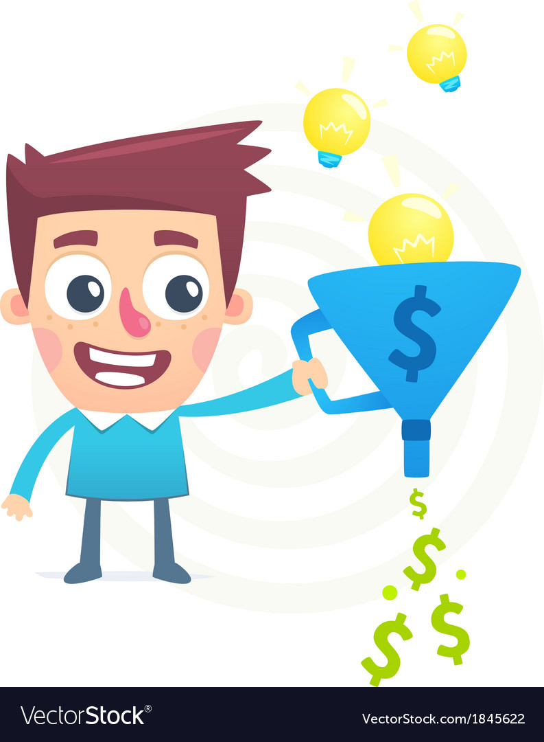Talent to turn ideas into money vector | Price: 1 Credit (USD $1)