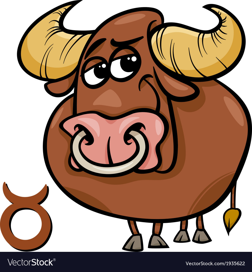 Taurus or the bull zodiac sign vector | Price: 1 Credit (USD $1)