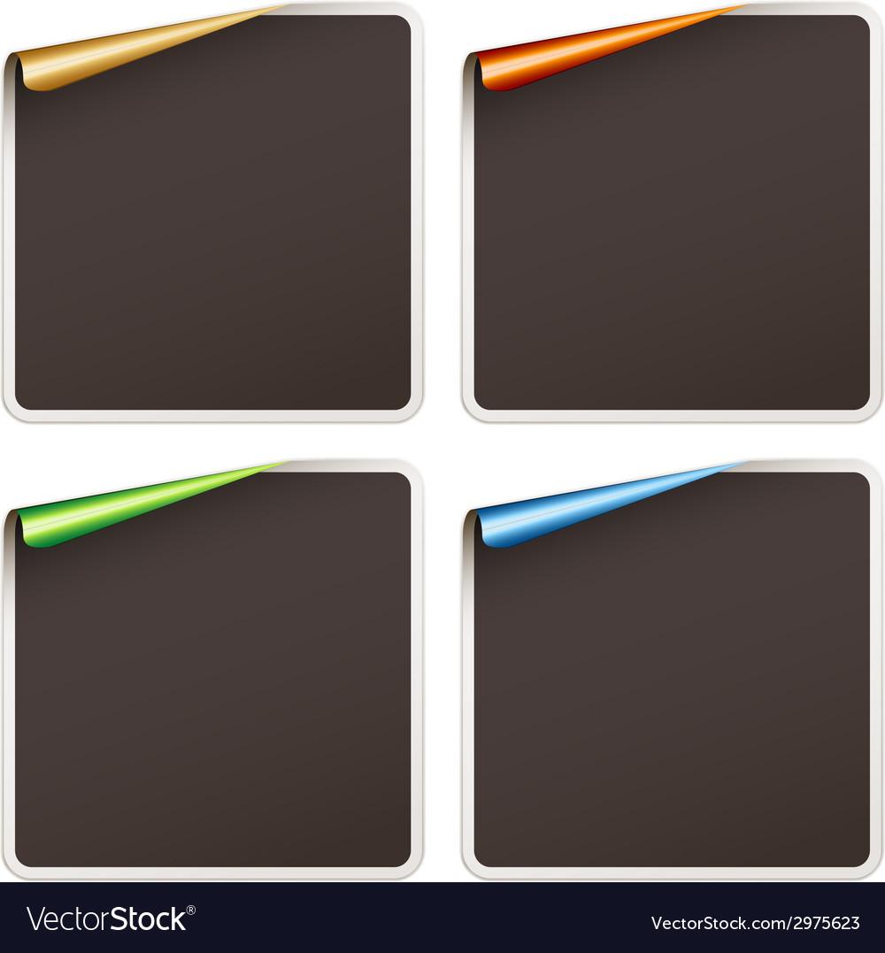 Blank festive stickers vector | Price: 1 Credit (USD $1)