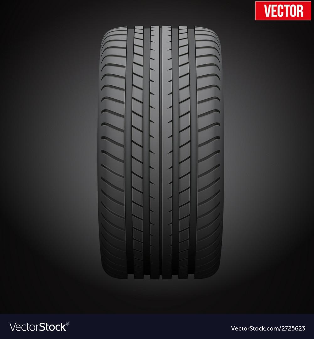 Dark background realistic rubber tire symbol vector   Price: 1 Credit (USD $1)