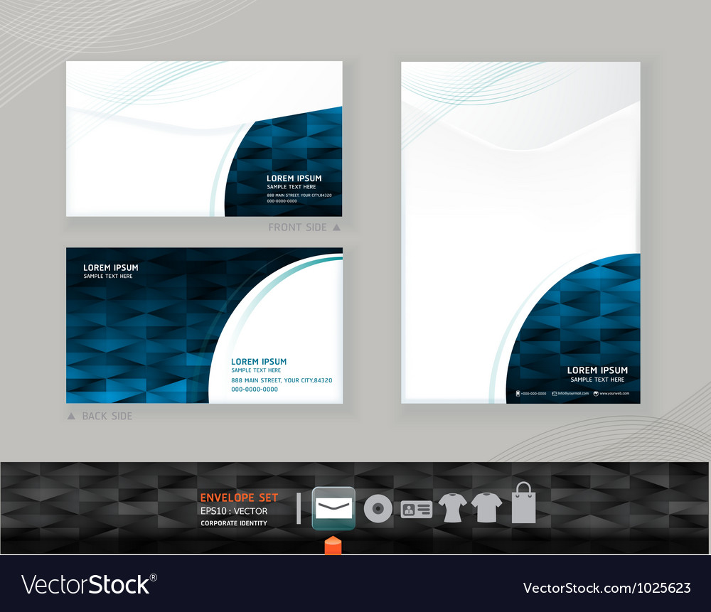 Envelope modern design template vector | Price: 1 Credit (USD $1)