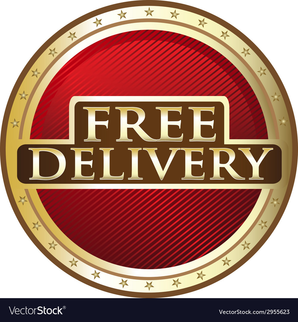 Free delivery emblem vector | Price: 1 Credit (USD $1)