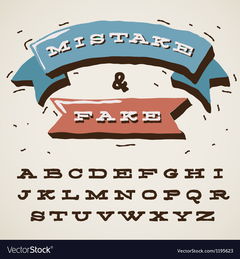 Funny alphabet letters in retro style vector | Price: 1 Credit (USD $1)