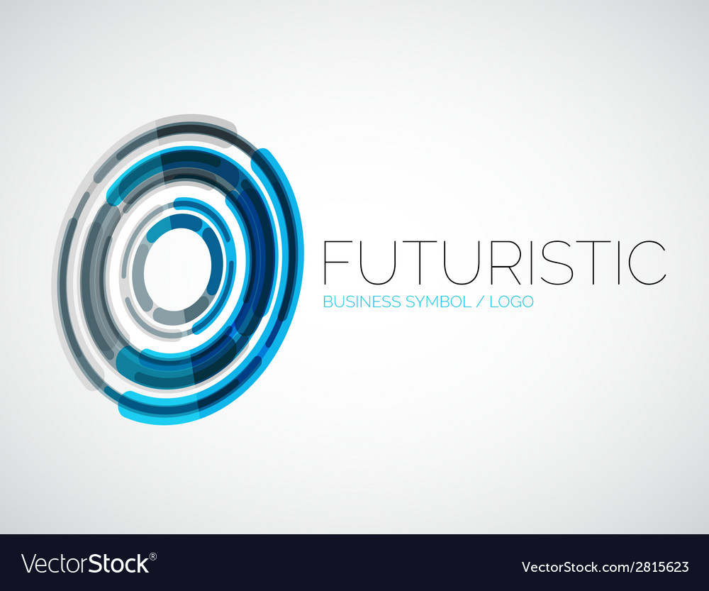 Futuristic circle business logo design vector | Price: 1 Credit (USD $1)