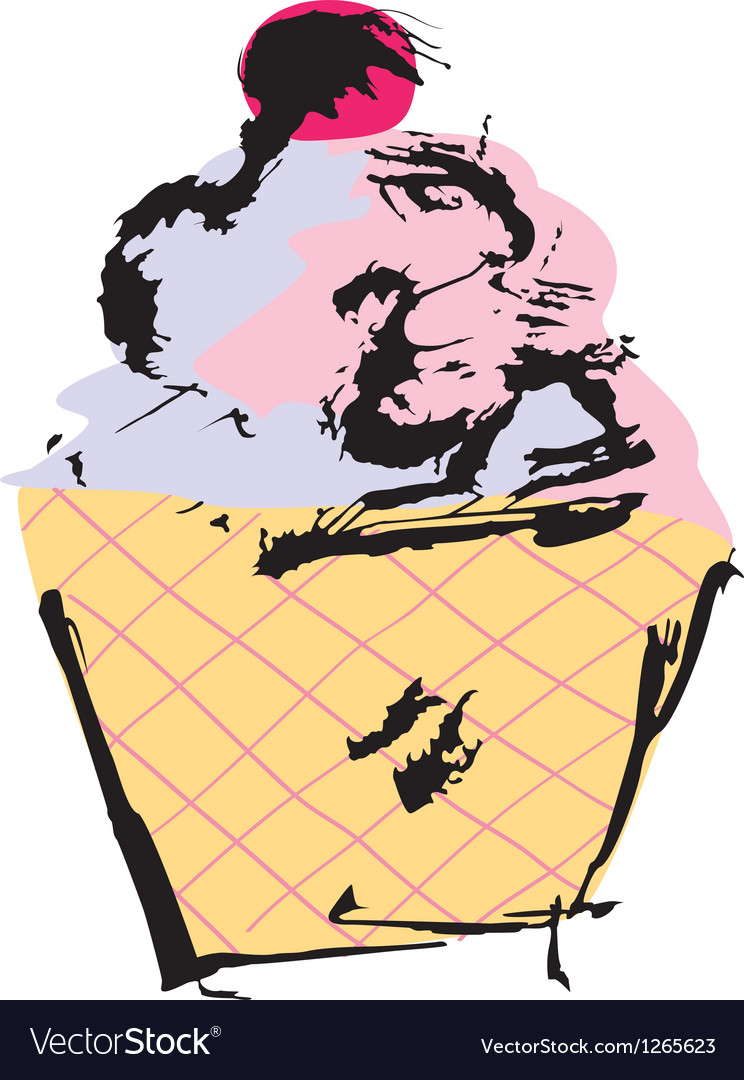 Grunge cupcake vector | Price: 1 Credit (USD $1)