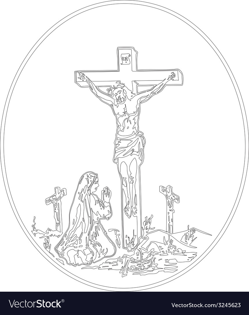 Jesus crucifixion vector | Price: 1 Credit (USD $1)