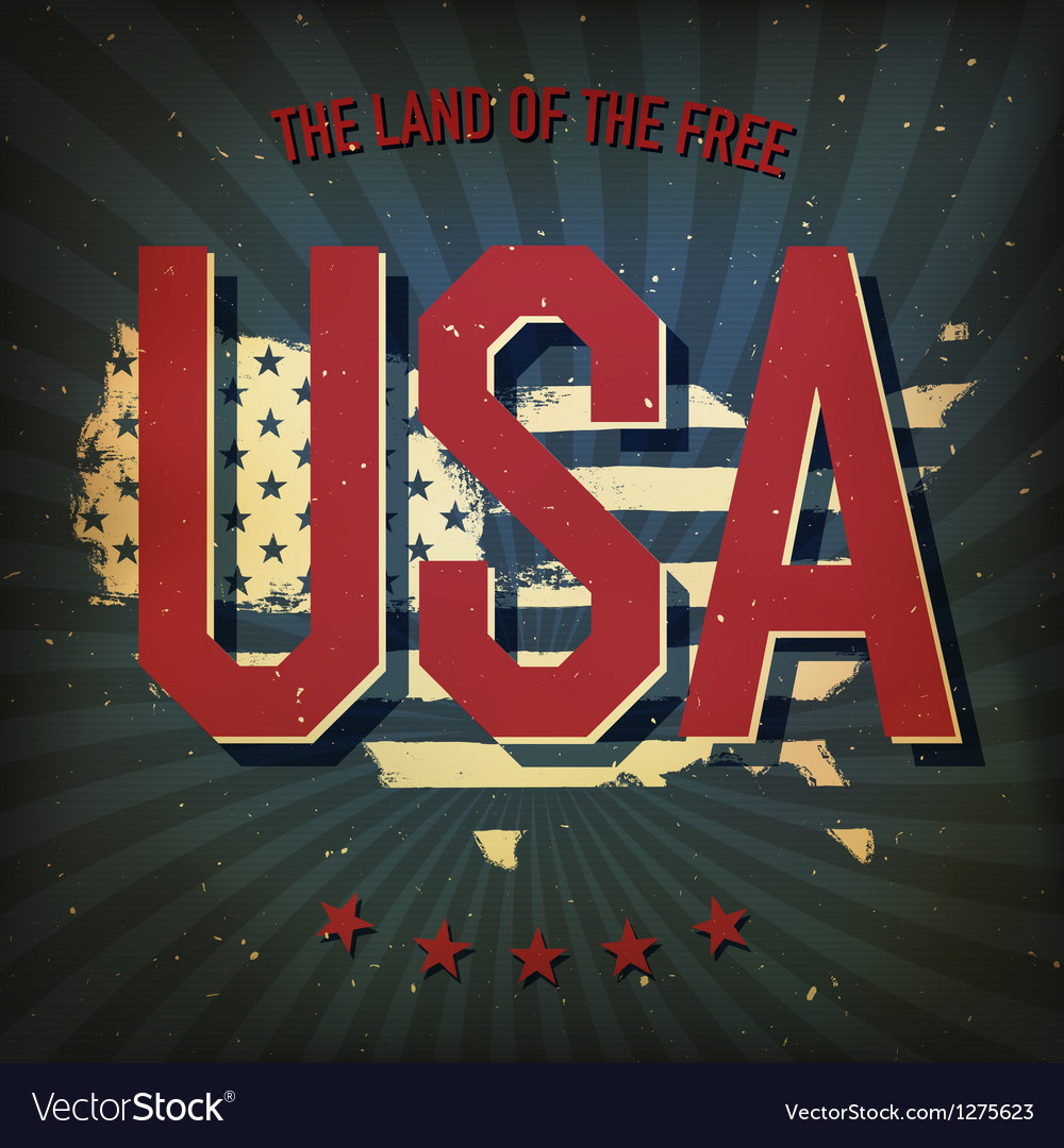 Land of the free usa poster vector | Price: 1 Credit (USD $1)