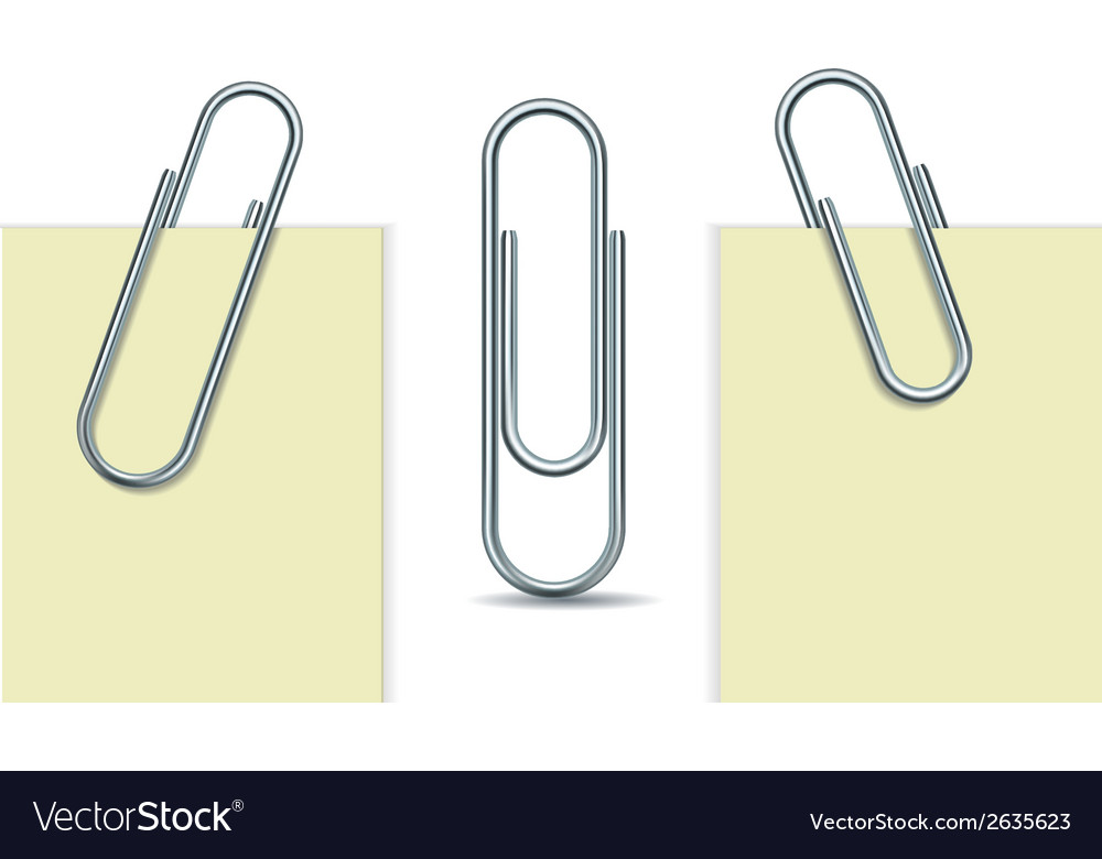 Metal paperclip and paper vector | Price: 1 Credit (USD $1)
