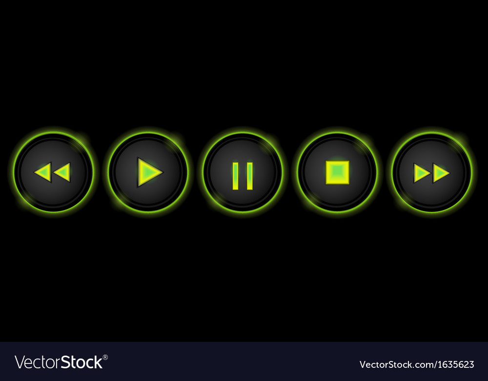 Neon control buttons vector | Price: 1 Credit (USD $1)