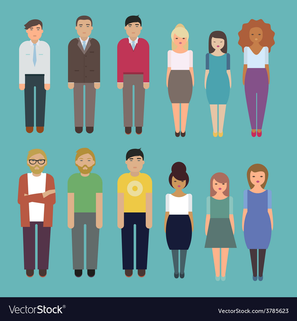 Office people characters set vector | Price: 1 Credit (USD $1)