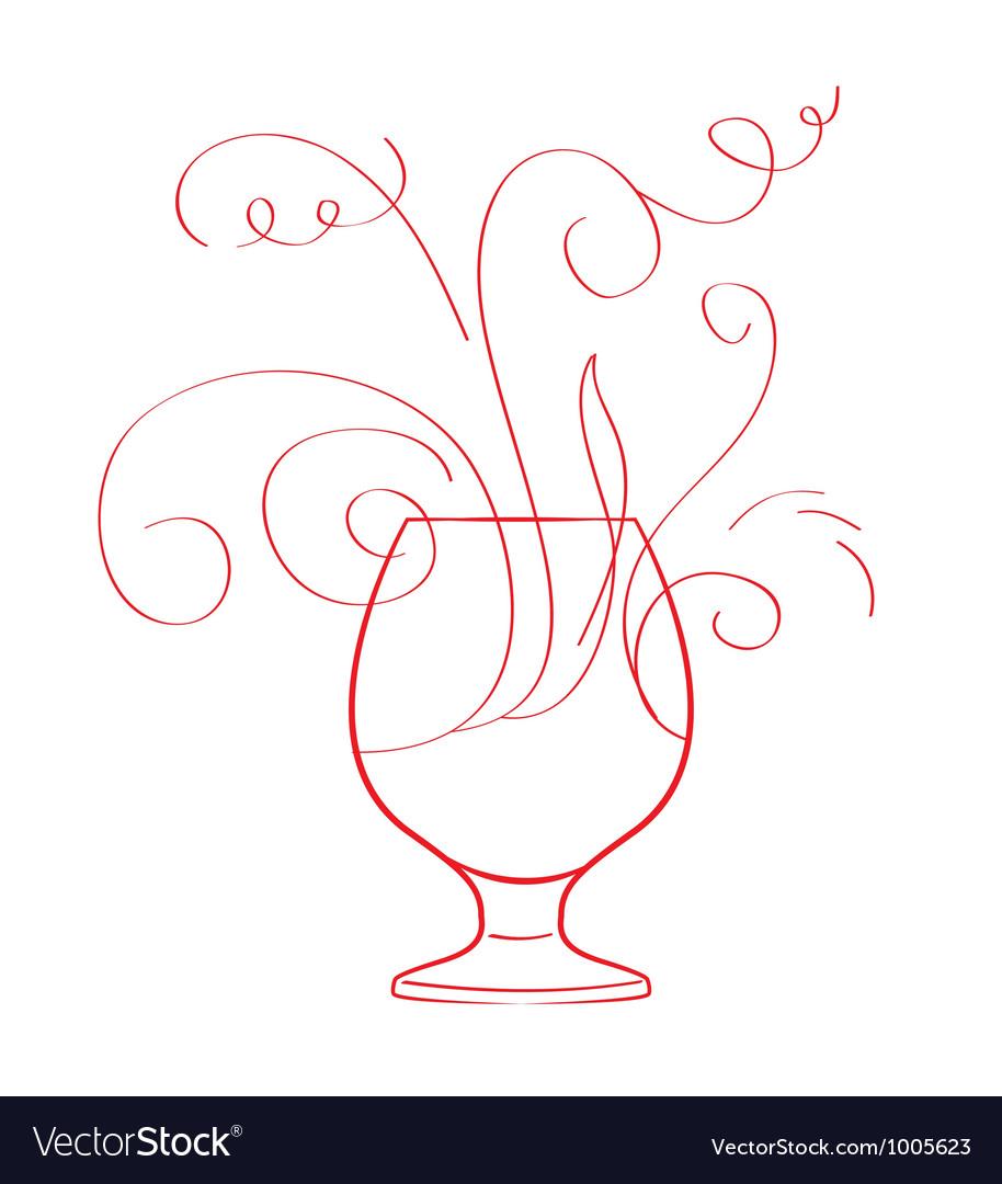 Red wine splash isolated vector   Price: 1 Credit (USD $1)