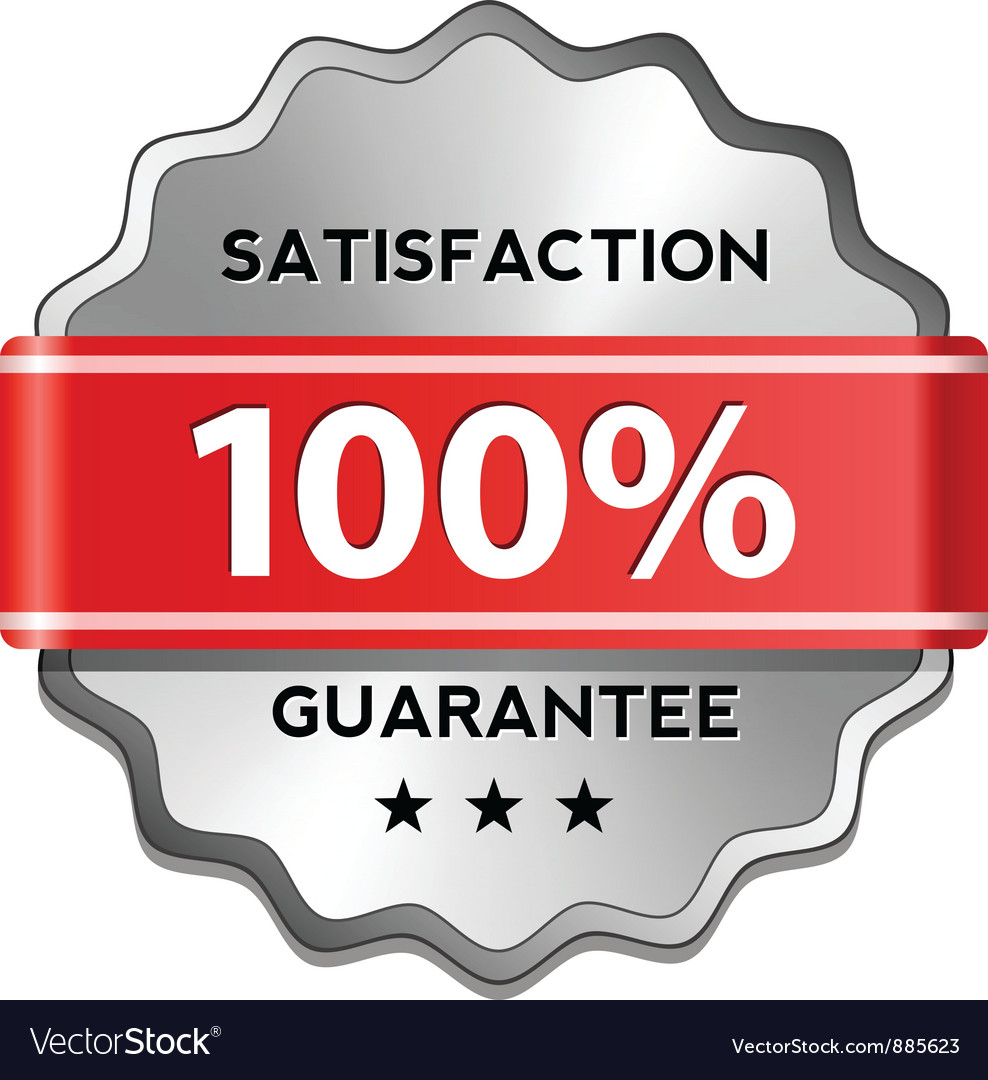 Satisfaction guarantee label vector | Price: 1 Credit (USD $1)