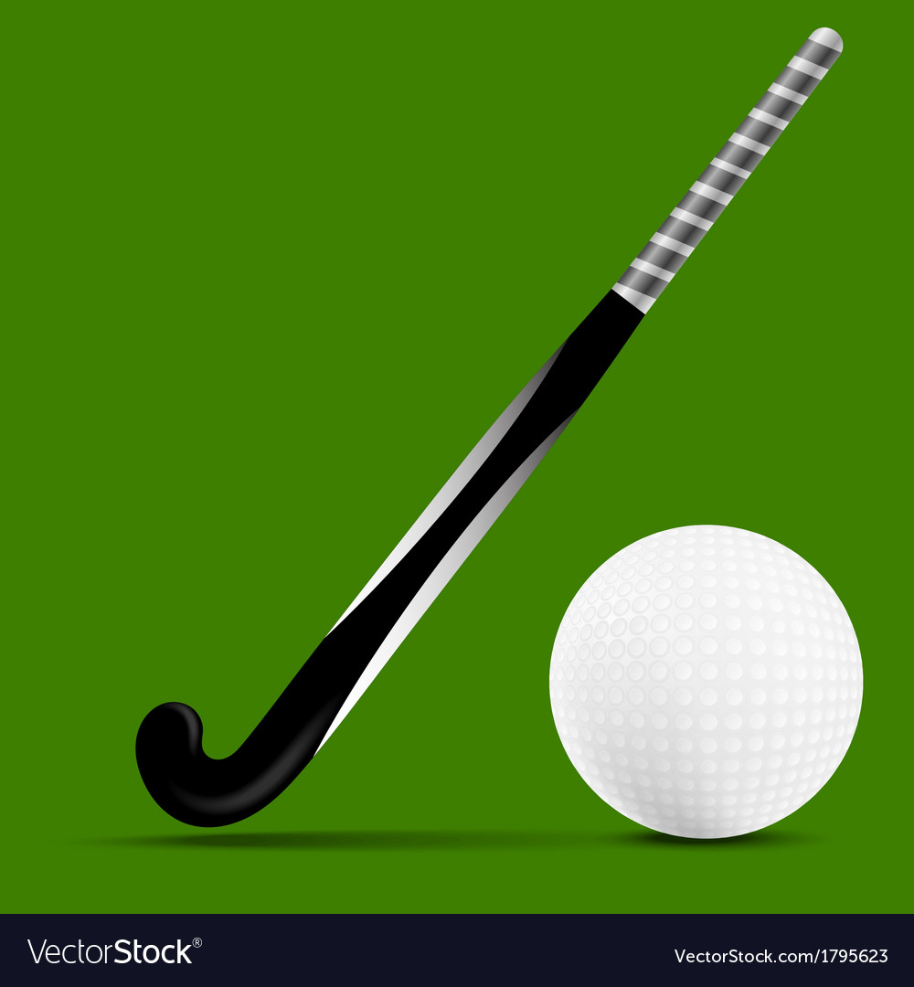 Stick and ball field hockey vector | Price: 1 Credit (USD $1)
