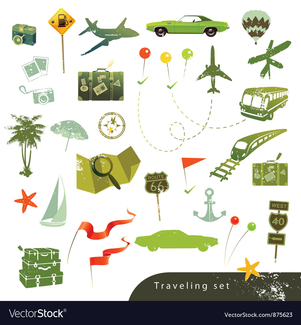 Traveling set vector | Price: 1 Credit (USD $1)