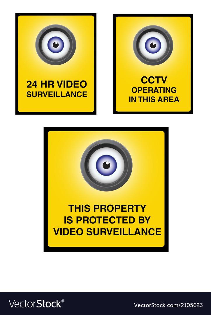 Video surveillance camera sign part 2 vector | Price: 1 Credit (USD $1)