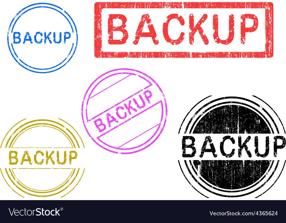 5 grunge stamps backup vector | Price: 1 Credit (USD $1)