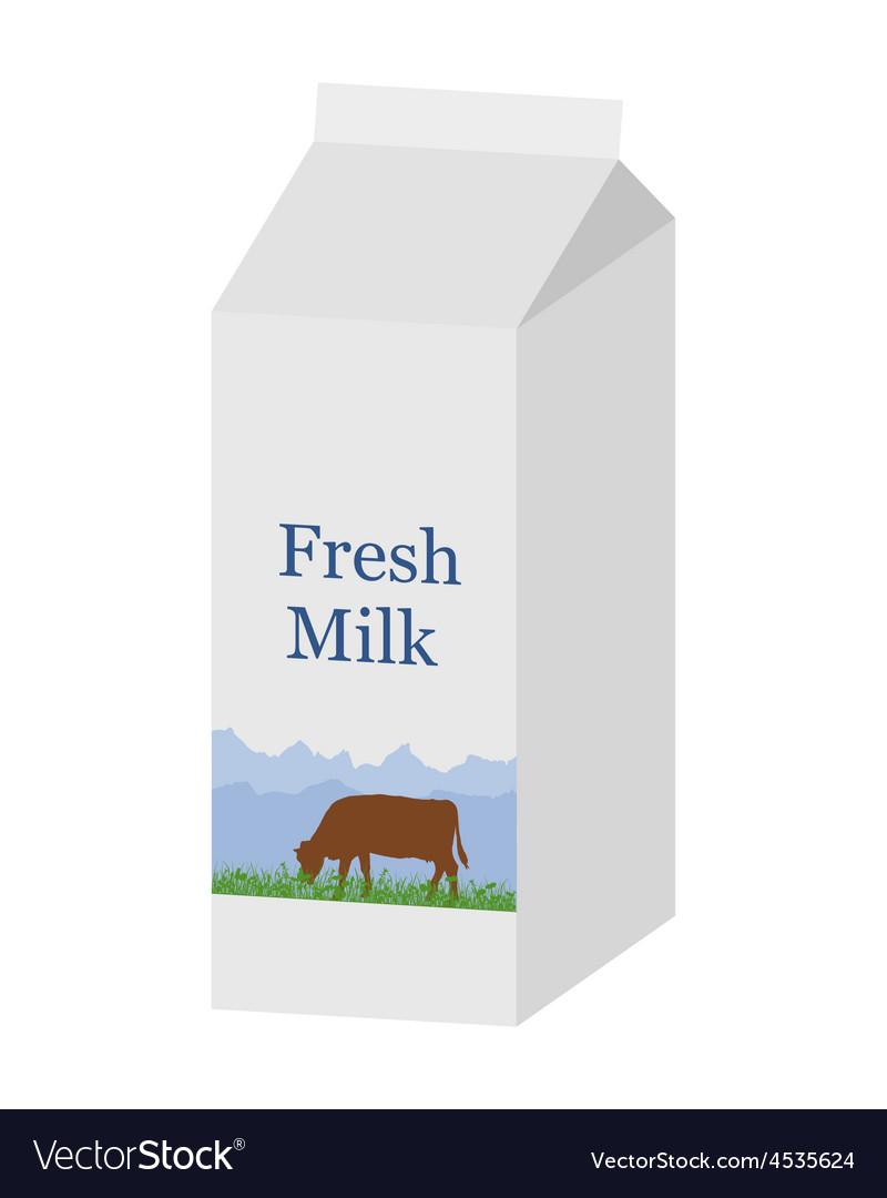 Bio milk carton vector | Price: 1 Credit (USD $1)